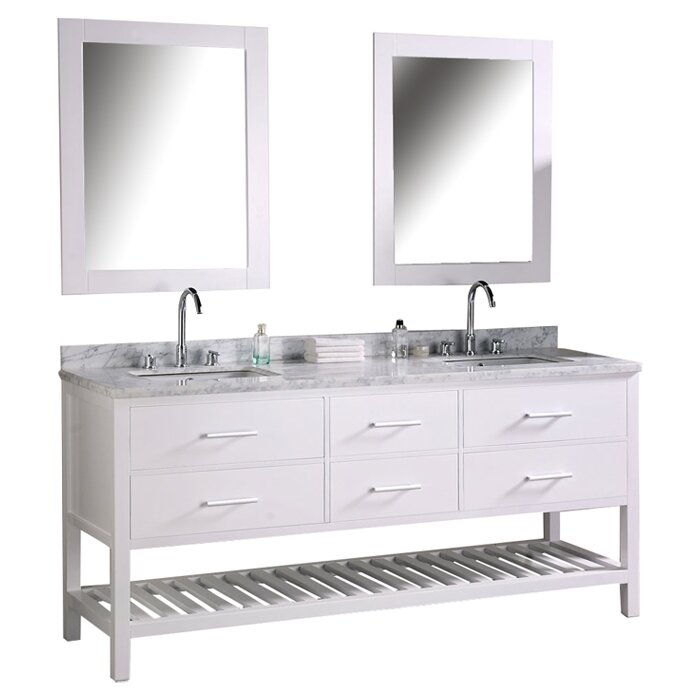 Red Barrel Studio Halcomb 72 Double Bathroom Vanity Set With Mirror Reviews