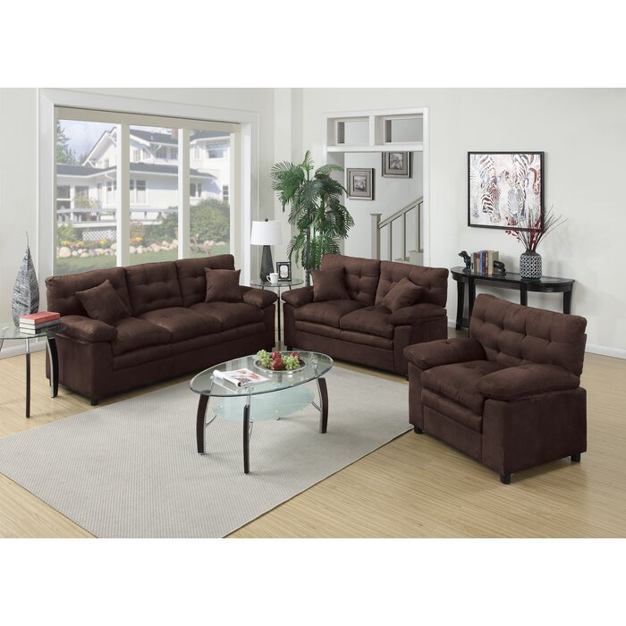 Red Barrel Studio Kingsport 3 Piece Living Room Set  Reviews Wayfair