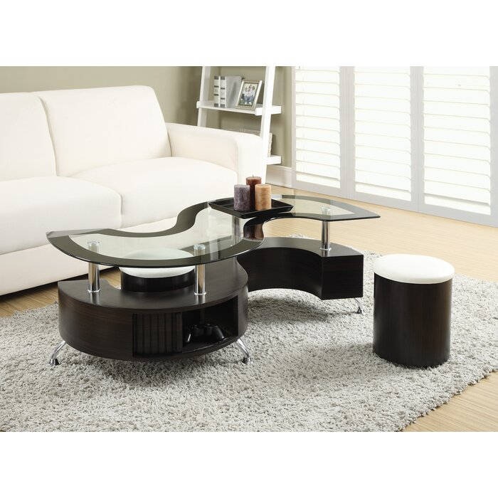 Orren Ellis Milivoje 3 Piece Coffee Table Set U0026 Reviews | Wayfair