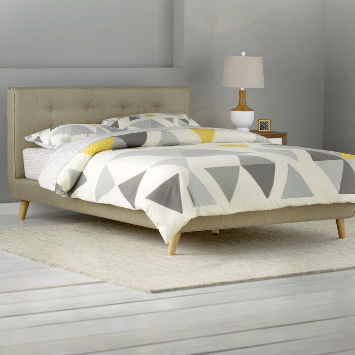 langley street rasmussen upholstered platform bed reviews wayfair - Upholstered Platform Bed Frame