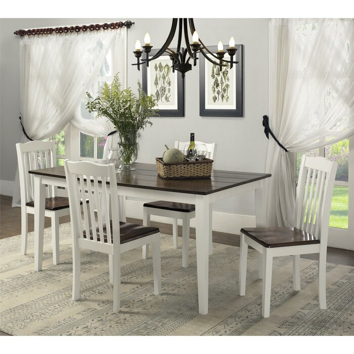 August Grove Dawson 5 Piece Dining Set & Reviews | Wayfair
