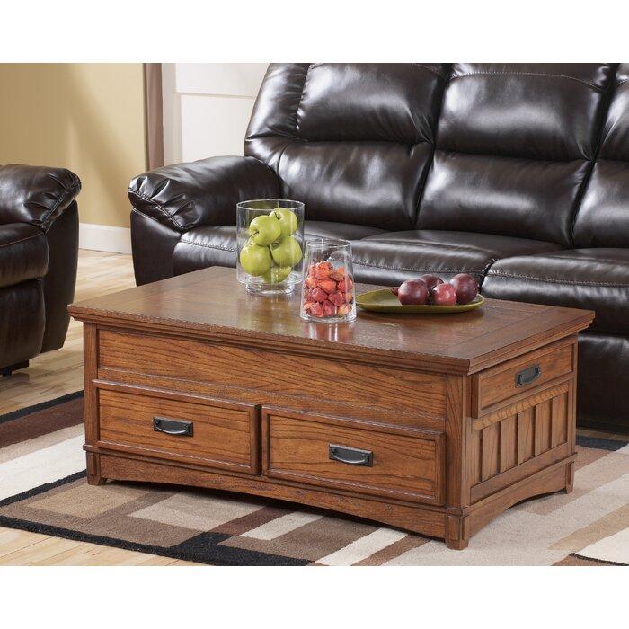 Loon Peak Barrett Trunk Coffee Table With Lift Top U0026 Reviews | Wayfair
