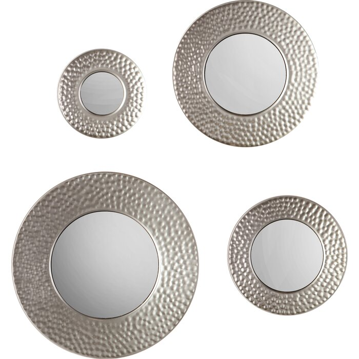 Wall Mirror Set brayden studio 4 piece wall mirror set & reviews | wayfair