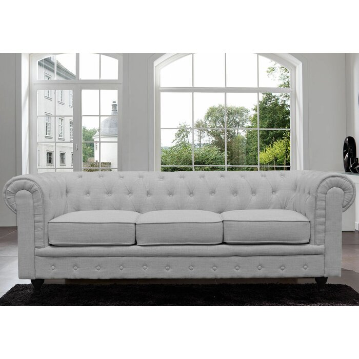 Willa Arlo Interiors Elstone Classic Scroll Arm Tufted Chesterfield Sofa &  Reviews | Wayfair.ca