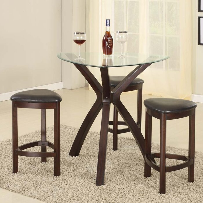 zipcode design burnell 4 piece counter height pub table set u0026 reviews wayfair