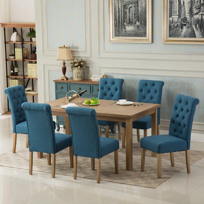 Roundhill Furniture Monotanian Solid Wood 7 Piece Dining Set U0026 Reviews |  Wayfair