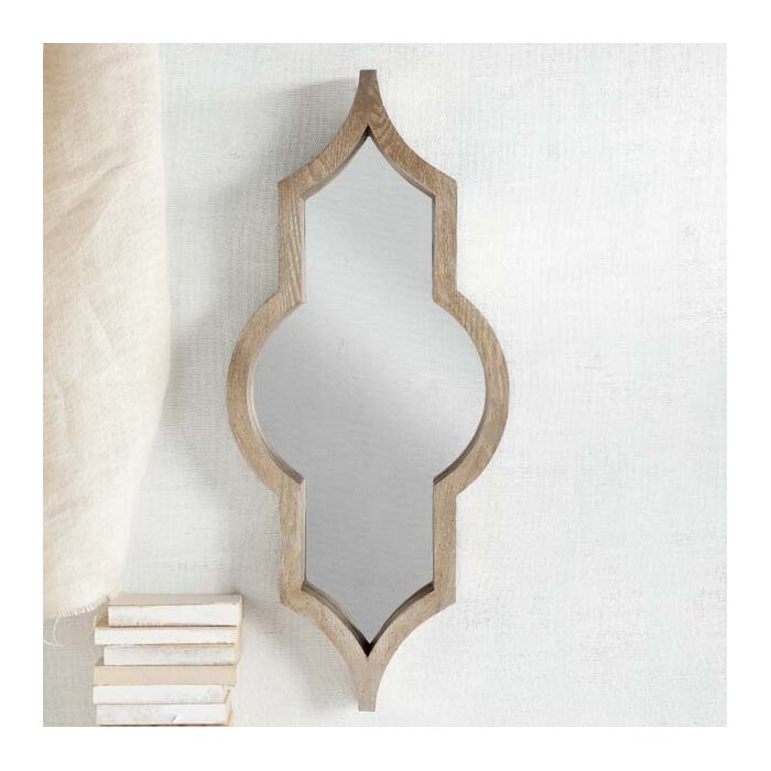 Wood Framed Wall Mirrors mistana irregular wood framed wall mirror & reviews | wayfair