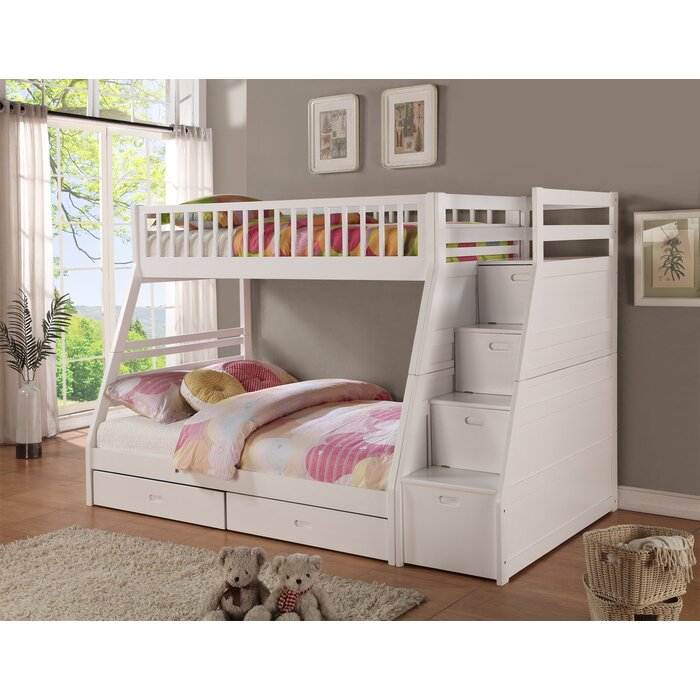 Viv Rae Pierre Twin Over Full Bunk Bed With Storage Reviews Wayfair