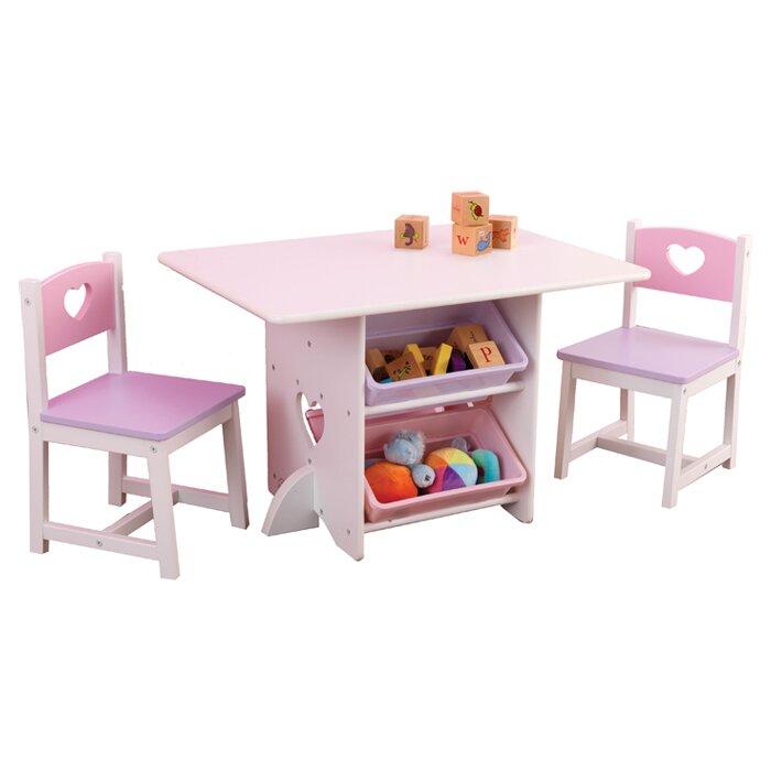 sc 1 st  Wayfair & KidKraft Heart Kids 7 Piece Table \u0026 Chair Set \u0026 Reviews   Wayfair