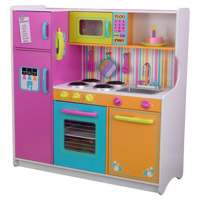 Play Kitchen Set kidkraft deluxe big & bright kitchen play set & reviews | wayfair