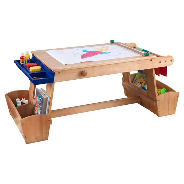 kidkraft drying rack and storage kids arts and crafts table u0026 reviews wayfair