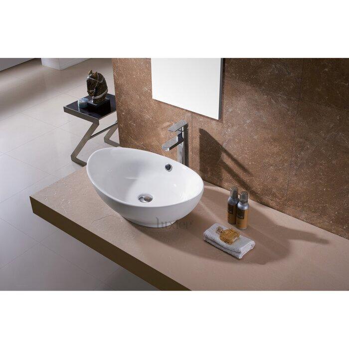 Bathroom Sinks Porcelain luxier l-004 bathroom egg porcelain ceramic oval vessel bathroom