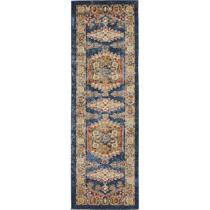 Astoria Grand Nathanson Dark Blue Area Rug U0026 Reviews | Wayfair