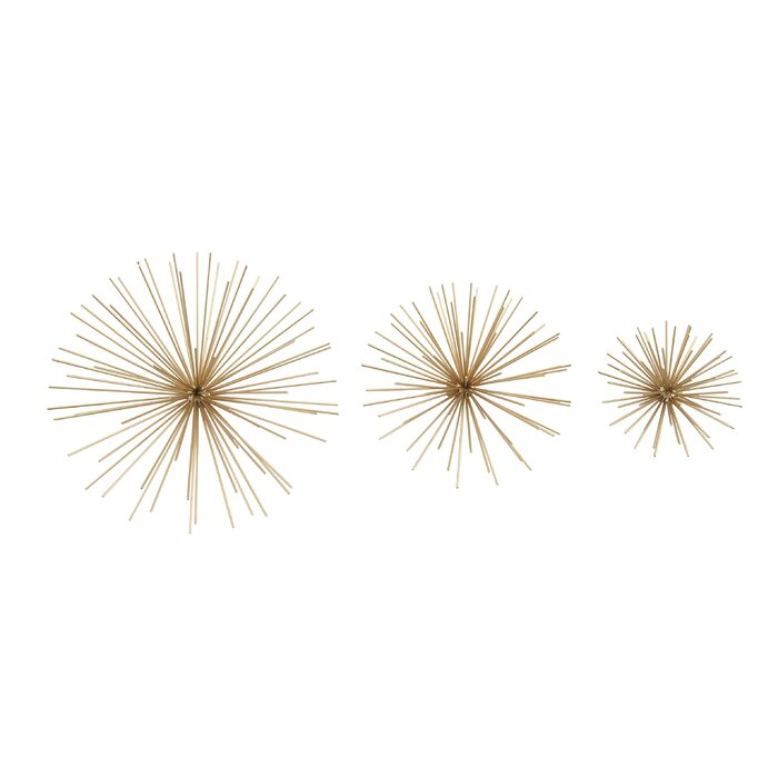 3 Piece Decorative Metal Star Wall Decor Set