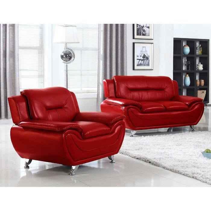 Living In Style Sophie Arm Chair And Loveseat Set U0026 Reviews | Wayfair