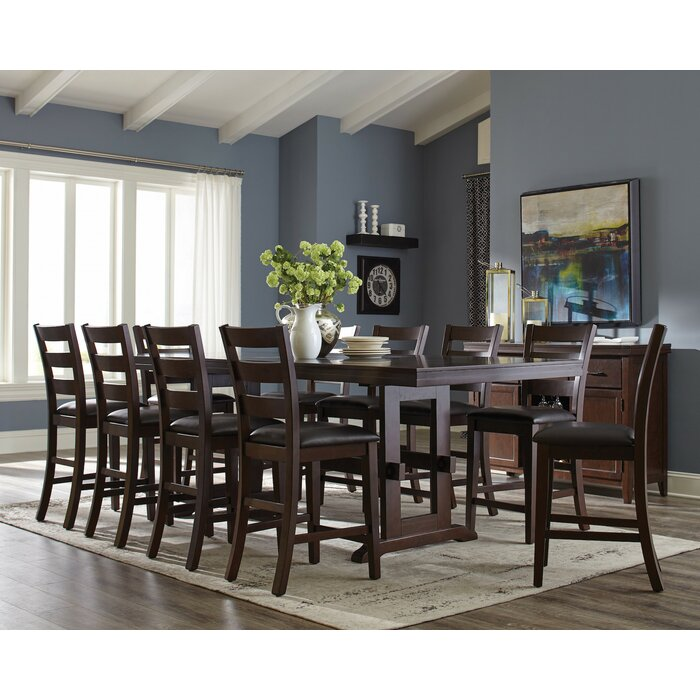 Tall Dining Room Sets infini furnishings richmond 11 piece counter height dining set