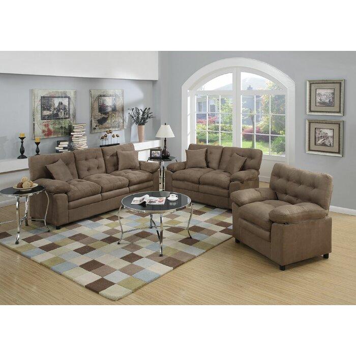 red barrel studio hayleigh 3 piece living room set reviews wayfair