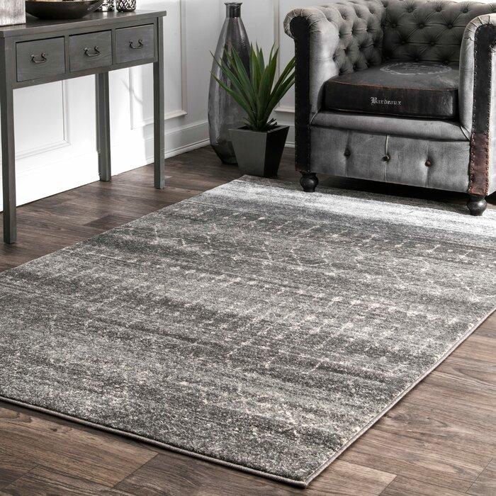 Superior Mistana Clair Dark Gray Area Rug U0026 Reviews | Wayfair