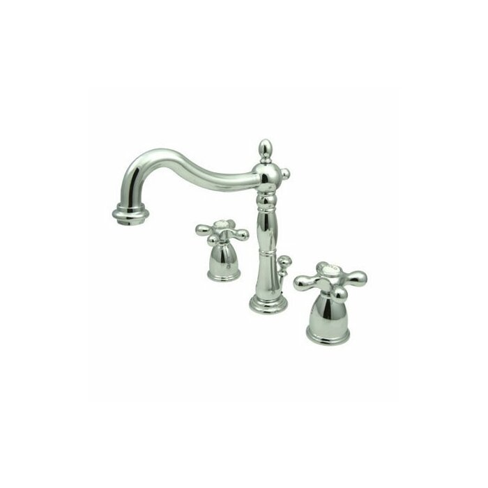 Elements of Design Heritage Widespread Bathroom Faucet with Double ...