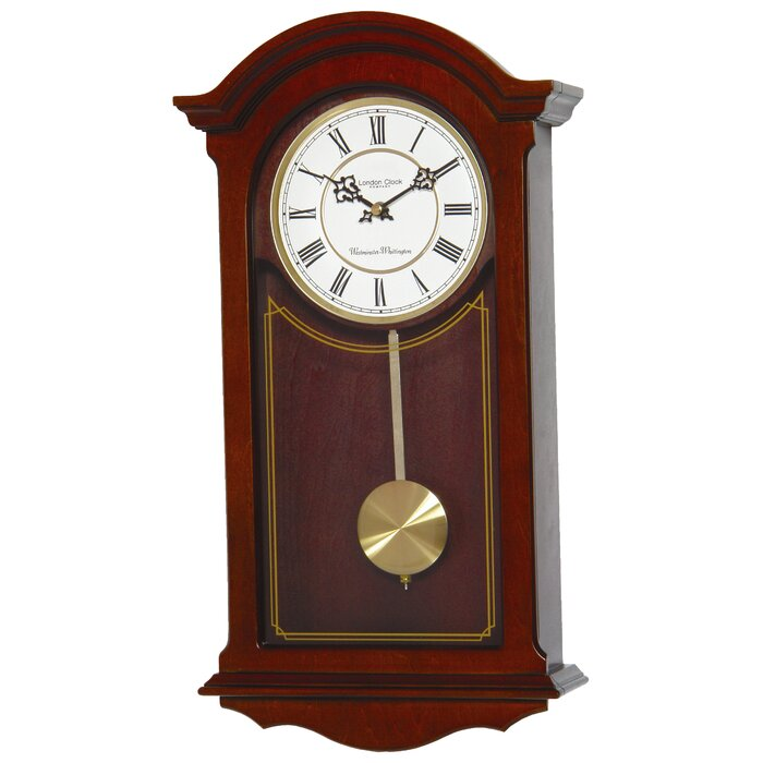 London Clock Company Walnut Wood Pendulum Wall Clock Reviews