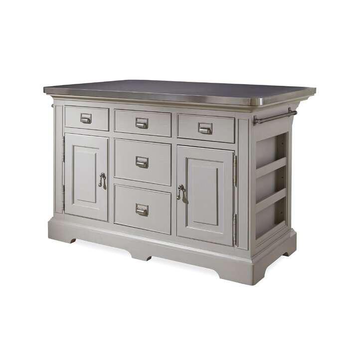 home dogwood kitchen island stainless steel counter top paula deen dining table and chairs tables down