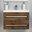 Medium Wood Abita 60cm Wall Mounted Vanity Unit