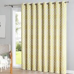 Loom Decor Ikat Blackout Rod Pocket Single Curtain Panel