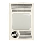 silent 110 cfm bathroom fan with heater and light reviews wayfair