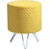 yellow footstool