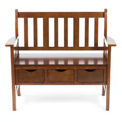 Gaskell Wood Storage Entryway Bench