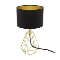 Tischlampe Schwarz Gold