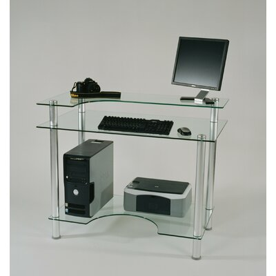 Tier One Designs Glass Computer Desk U0026 Reviews | Wayfair
