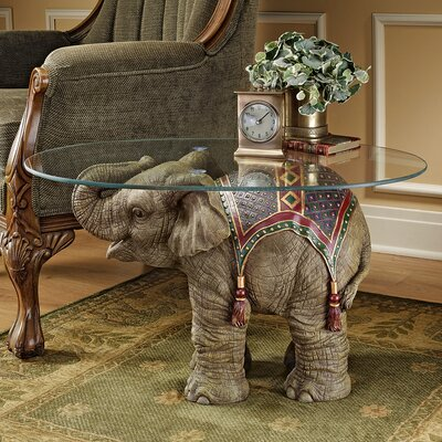 Design Toscano Jaipur Elephant Festival Coffee Table U0026 Reviews | Wayfair