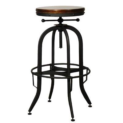 new pacific direct industrial adjustable height swivel bar stool u0026 reviews wayfair