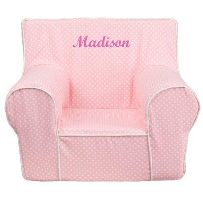 Flash Furniture Personalized Kids Cotton Foam Chair U0026 Reviews | Wayfair
