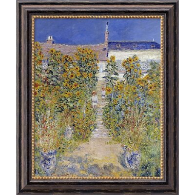 Amanti Art U0027The Artistu0027s Garden At Vetheuil, 1880u0027 By Claude Monet Framed  Painting Print U0026 Reviews | Wayfair