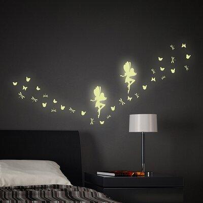 Fairy Glow In The Dark 34 Piece Wall Decal Set U0026 Reviews | Wayfair
