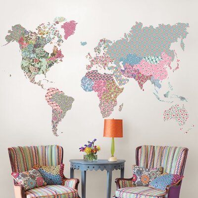 Wallpops boho world map wall decal reviews wayfair boho world map wall decal reviews wayfair gumiabroncs Images