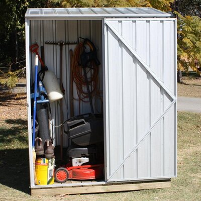 Absco Spacesaver Ft W X Ft In D Metal Vertical Tool Shed