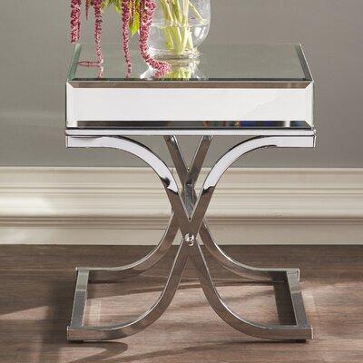 - Clarissa Mirrored End Table & Reviews Joss & Main