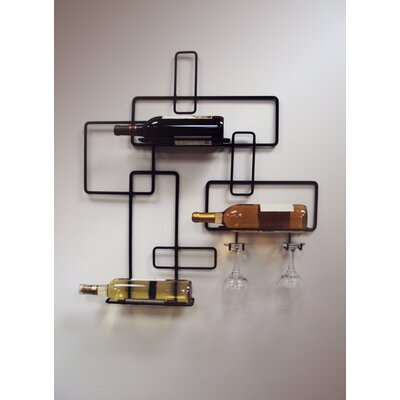 Wall Mounted Metal Wine Rack j & j wire 3 bottle wall mounted wine rack & reviews | wayfair