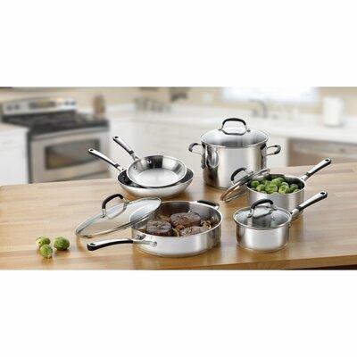 calphalon simply stainless steel 10 piece cookware set u0026 reviews wayfair