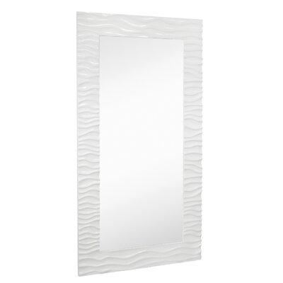 Large Rectangular Wall Mirror majestic mirror large stylish rectangular glossy white lacquer
