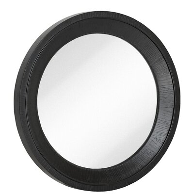 Black Wall Mirrors majestic mirror round black with natural wood grain circular glass