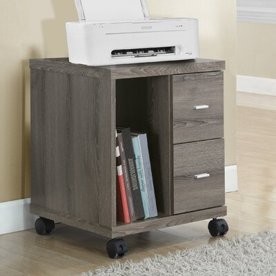 monarch specialties inc mobile printer stand with 2 drawer u0026 reviews wayfair