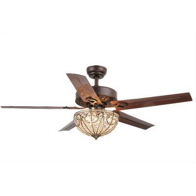astoria grand aspen 5-blade crystal light ceiling fan & reviews