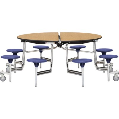 "Image of 81"" Particle Board Core Round Cafeteria Table up to 25% Off"