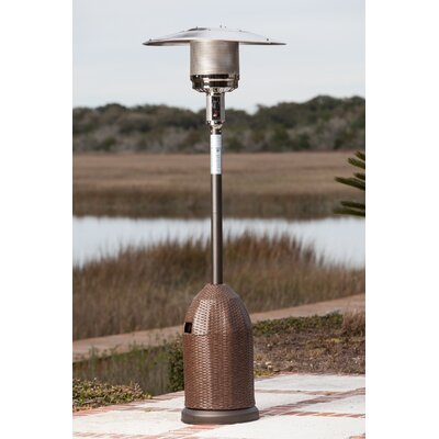 Fire Sense All Weather 46,000 BTU Propane Patio Heater U0026 Reviews | Wayfair