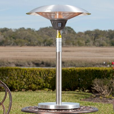 Fire Sense Cimarron Halogen 1500 Watt Electric Tabletop Patio Heater U0026  Reviews | Wayfair  Fire Sense Patio Heater