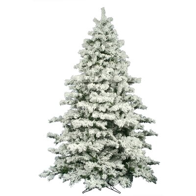 The Holiday Aisle Flocked Alaskan 9' White Pine Artificial Unlit  - Pictures Of Flocked Christmas Trees